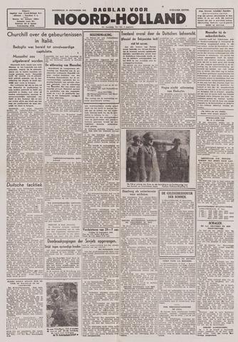 Dagblad Noord-Holland, Schager editie 1943-09-23