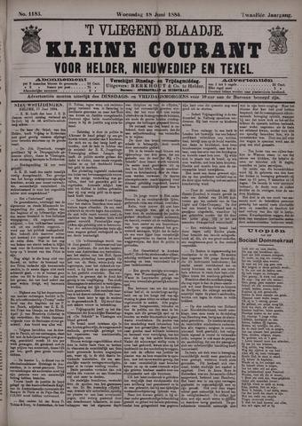 Vliegend blaadje : nieuws- en advertentiebode voor Den Helder 1884-06-18