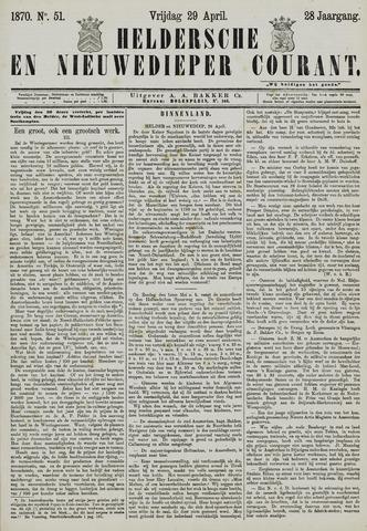 Heldersche en Nieuwedieper Courant 1870-04-29