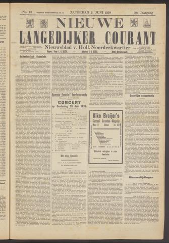 Nieuwe Langedijker Courant 1930-06-21