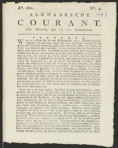 Alkmaarsche Courant 1811-01-14