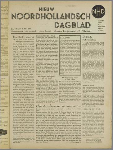 Nieuw Noordhollandsch Dagblad : voor Alkmaar en omgeving 1945-05-26
