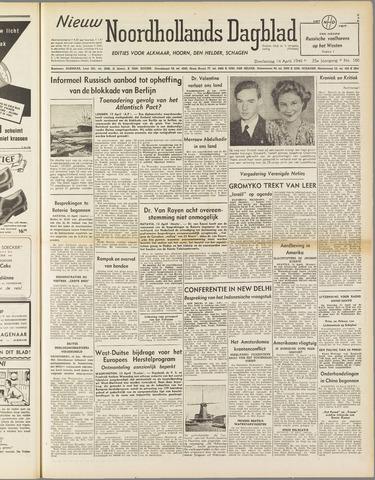 Nieuw Noordhollandsch Dagblad : voor Alkmaar en omgeving 1949-04-14
