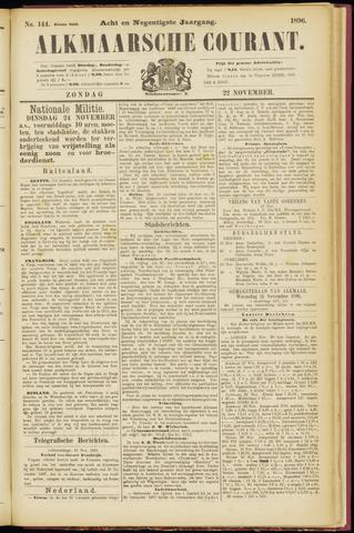 Alkmaarsche Courant 1896-11-22