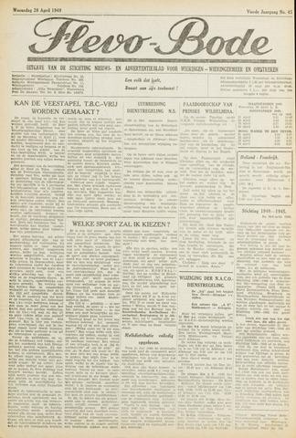 Flevo-bode: nieuwsblad voor Wieringen-Wieringermeer 1949-04-20