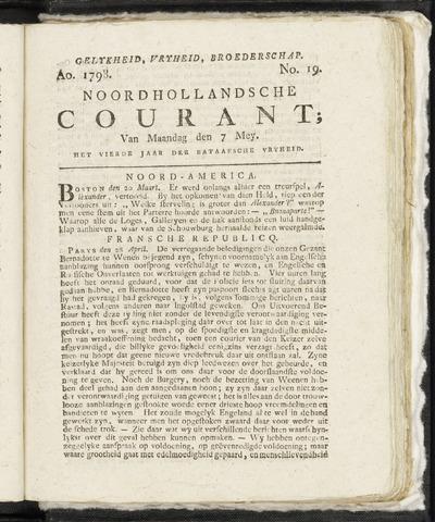 Noordhollandsche Courant 1798-05-07