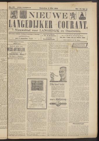 Nieuwe Langedijker Courant 1925-05-02