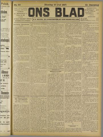 Ons Blad : katholiek nieuwsblad voor N-H 1917-07-10