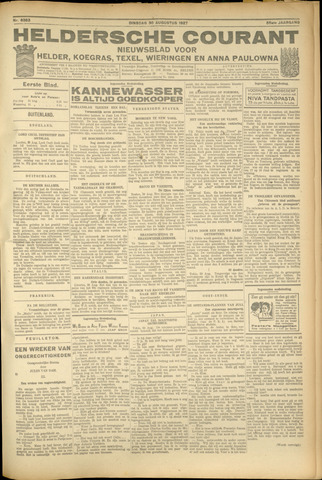 Heldersche Courant 1927-08-30