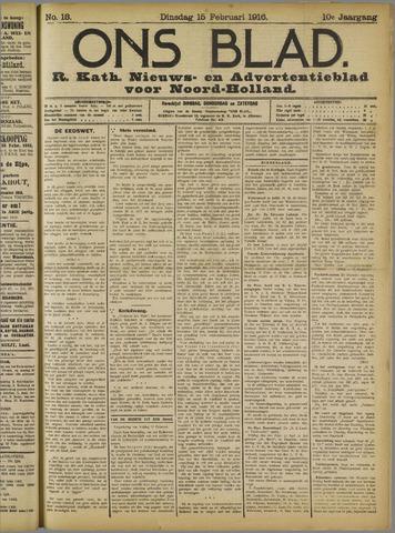 Ons Blad : katholiek nieuwsblad voor N-H 1916-02-15