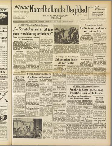Nieuw Noordhollandsch Dagblad : voor Alkmaar en omgeving 1952-06-12