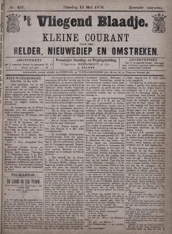 Vliegend blaadje : nieuws- en advertentiebode voor Den Helder 1879-05-13