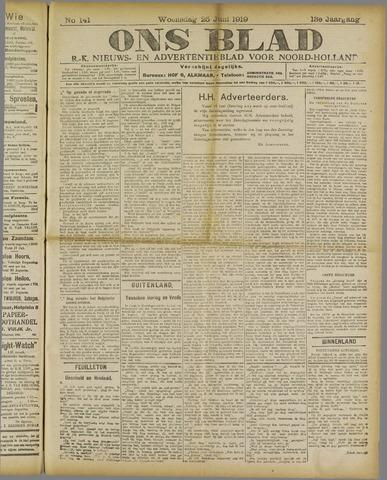 Ons Blad : katholiek nieuwsblad voor N-H 1919-06-25