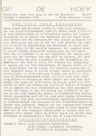 Op De Hoek, weekblad voor Akersloot 1963-02-01