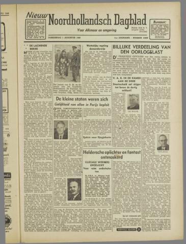 Nieuw Noordhollandsch Dagblad : voor Alkmaar en omgeving 1946-08-01