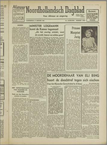 Nieuw Noordhollandsch Dagblad : voor Alkmaar en omgeving 1946-01-17
