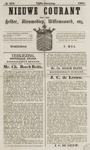 Nieuwe Courant van Den Helder 1865-05-03