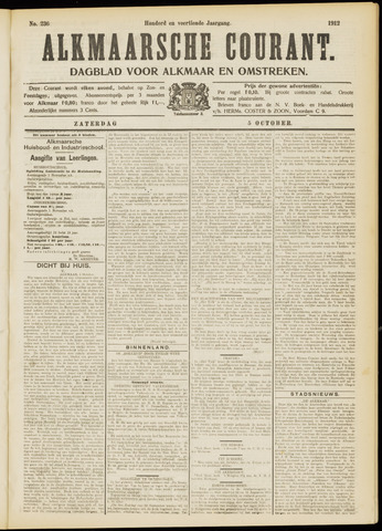 Alkmaarsche Courant 1912-10-05