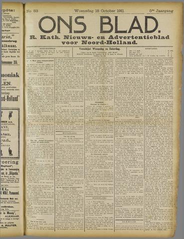 Ons Blad : katholiek nieuwsblad voor N-H 1911-10-18