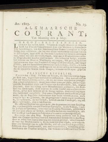 Alkmaarsche Courant 1803-05-09