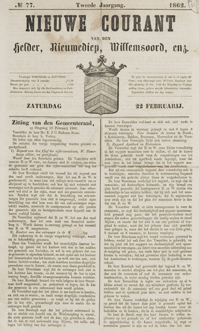 Nieuwe Courant van Den Helder 1862-02-22