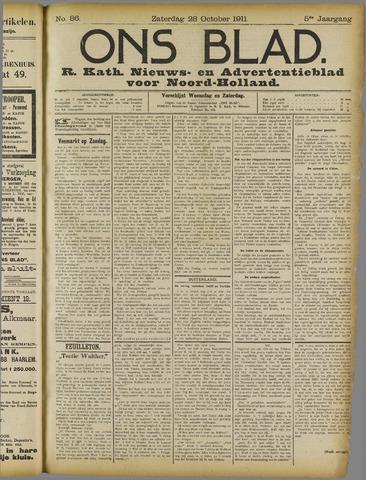 Ons Blad : katholiek nieuwsblad voor N-H 1911-10-28