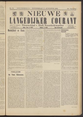 Nieuwe Langedijker Courant 1932-08-11