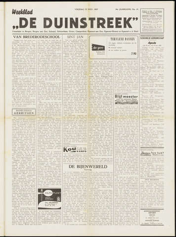 De Duinstreek 1957-11-15
