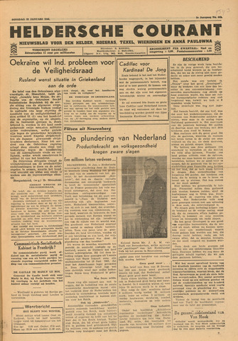 Heldersche Courant 1946-01-22