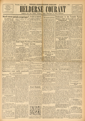 Heldersche Courant 1949-02-09