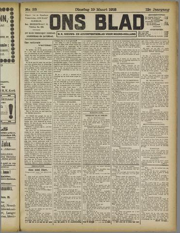 Ons Blad : katholiek nieuwsblad voor N-H 1918-03-19