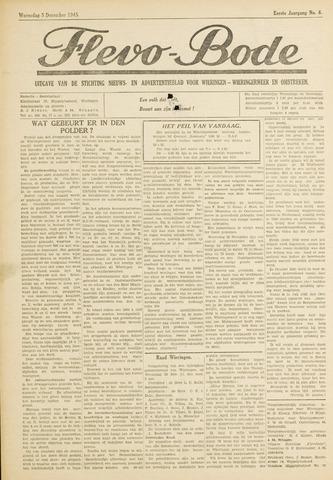 Flevo-bode: nieuwsblad voor Wieringen-Wieringermeer 1945-12-05