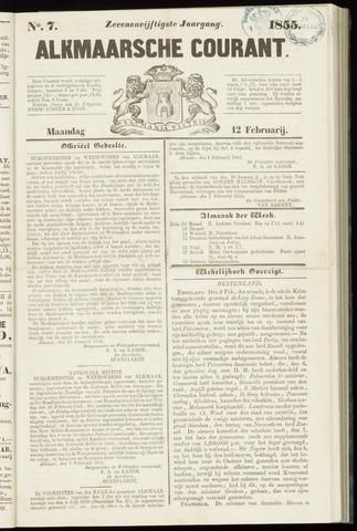 Alkmaarsche Courant 1855-02-12