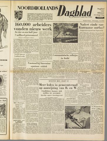 Noordhollands Dagblad : dagblad voor Alkmaar en omgeving 1953-03-31