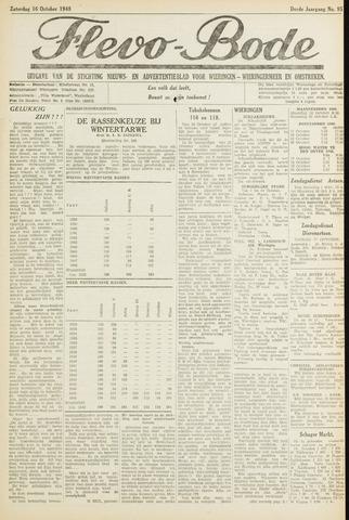 Flevo-bode: nieuwsblad voor Wieringen-Wieringermeer 1948-10-16