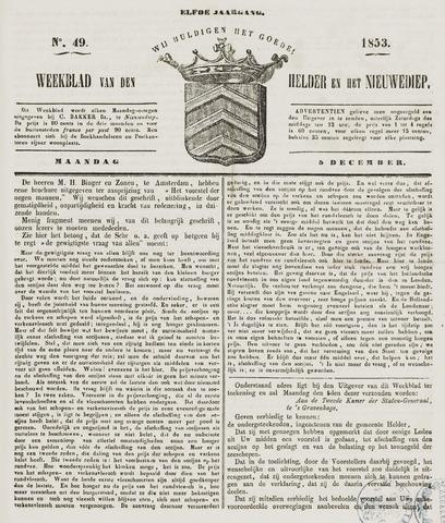 Weekblad van Den Helder en het Nieuwediep 1853-12-05