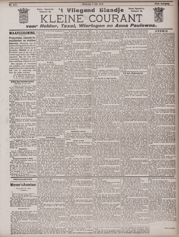 Vliegend blaadje : nieuws- en advertentiebode voor Den Helder 1903-07-11