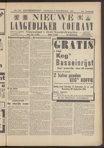 Nieuwe Langedijker Courant 1931-09-08