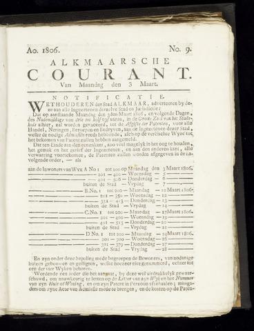 Alkmaarsche Courant 1806-03-03