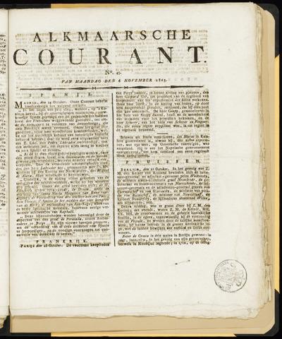 Alkmaarsche Courant 1815-11-06
