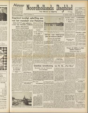 Nieuw Noordhollandsch Dagblad : voor Alkmaar en omgeving 1947-09-27