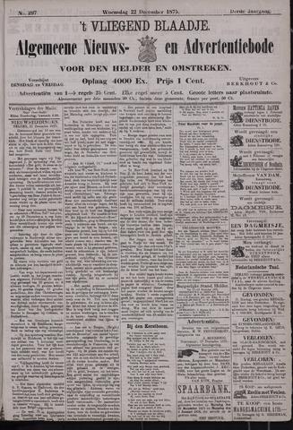 Vliegend blaadje : nieuws- en advertentiebode voor Den Helder 1875-12-22