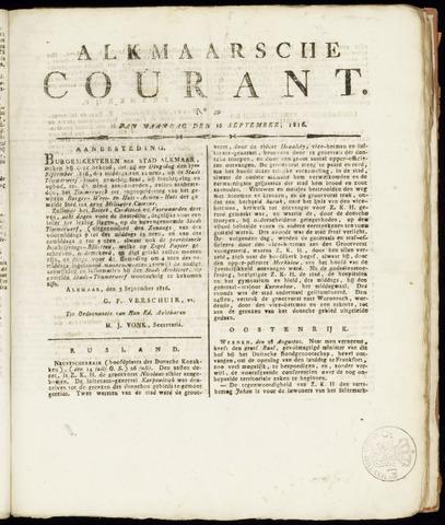 Alkmaarsche Courant 1816-09-16