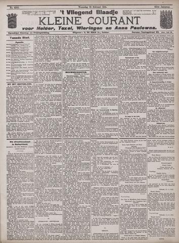 Vliegend blaadje : nieuws- en advertentiebode voor Den Helder 1914-02-25