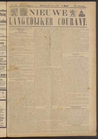 Nieuwe Langedijker Courant 1922-07-08
