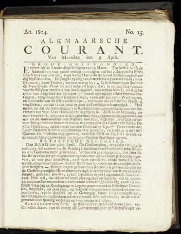 Alkmaarsche Courant 1804-04-09