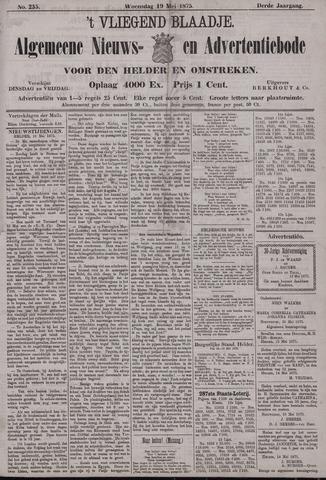 Vliegend blaadje : nieuws- en advertentiebode voor Den Helder 1875-05-19