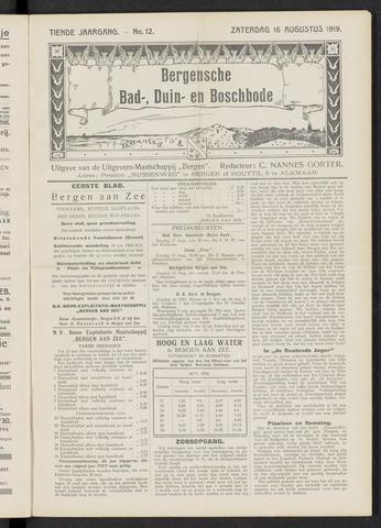 Bergensche bad-, duin- en boschbode 1919-08-16