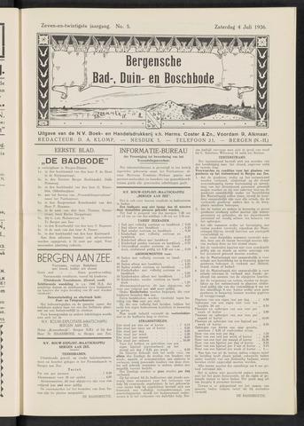 Bergensche bad-, duin- en boschbode 1936-07-04