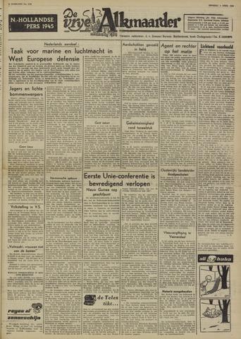 De Vrije Alkmaarder 1950-04-04